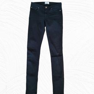 Acne Studios Low Black Denim Distressed Jeans